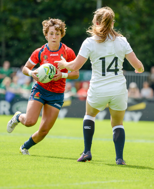 Women's rugby World Cup Round 1. Match between England and Spain