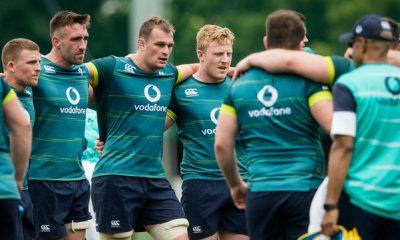 Jugadores de Irlanda, durante una concentración. / Irish Rugby