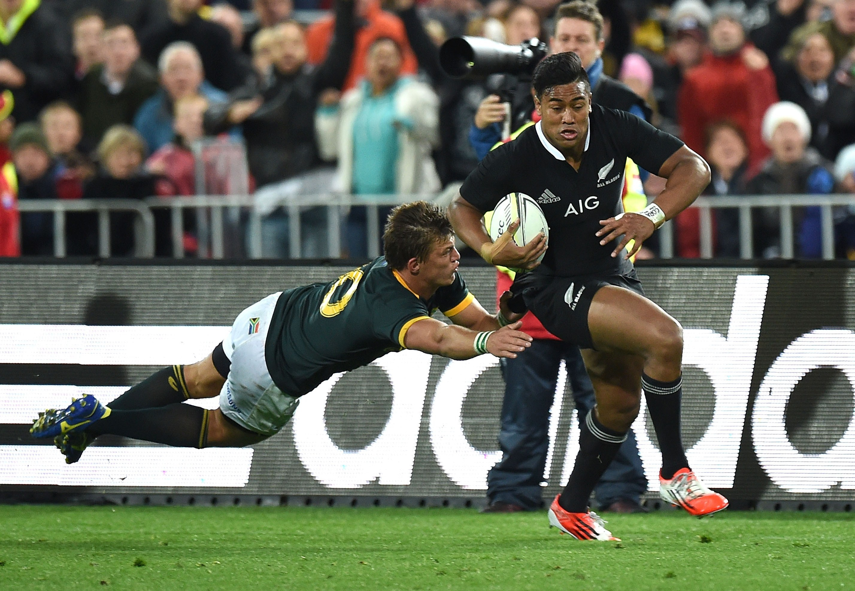 Julian Savea en un partido con los All Blacks. / Photo NZRU