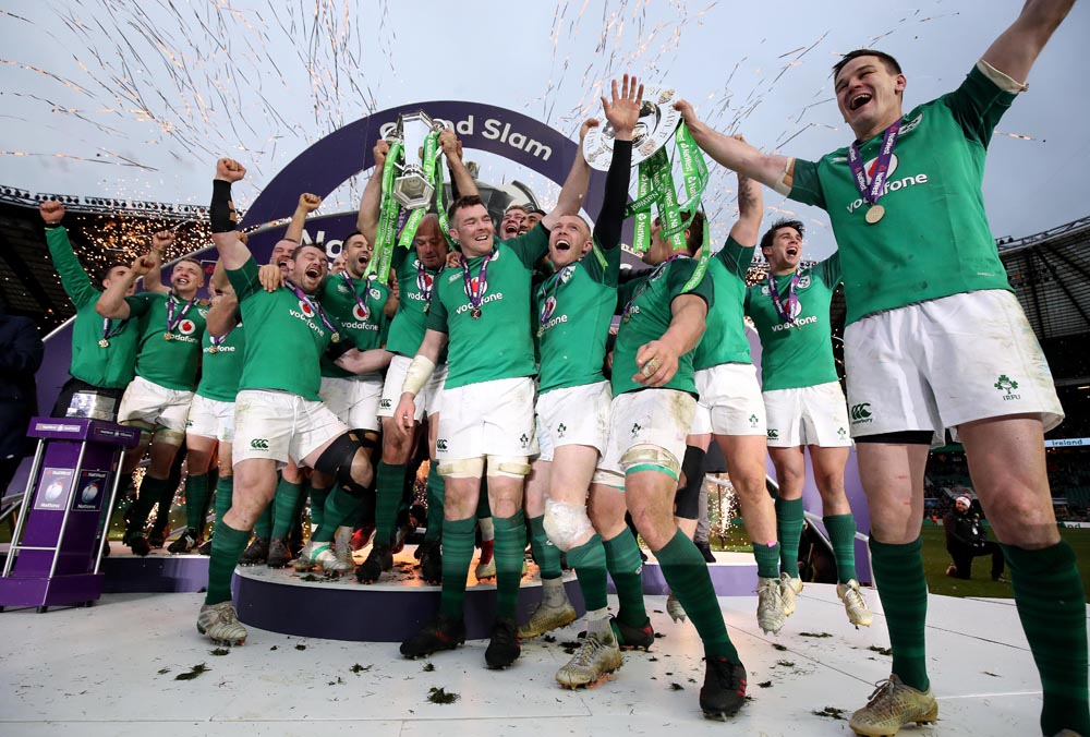 Ireland celebrate winning the Grand Slam 17/3/2018