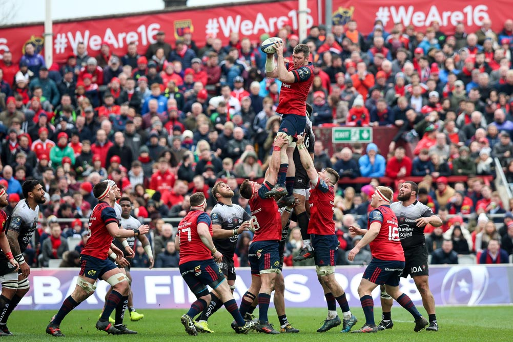 Peter O'Mahony wins a line out 31/3/2018