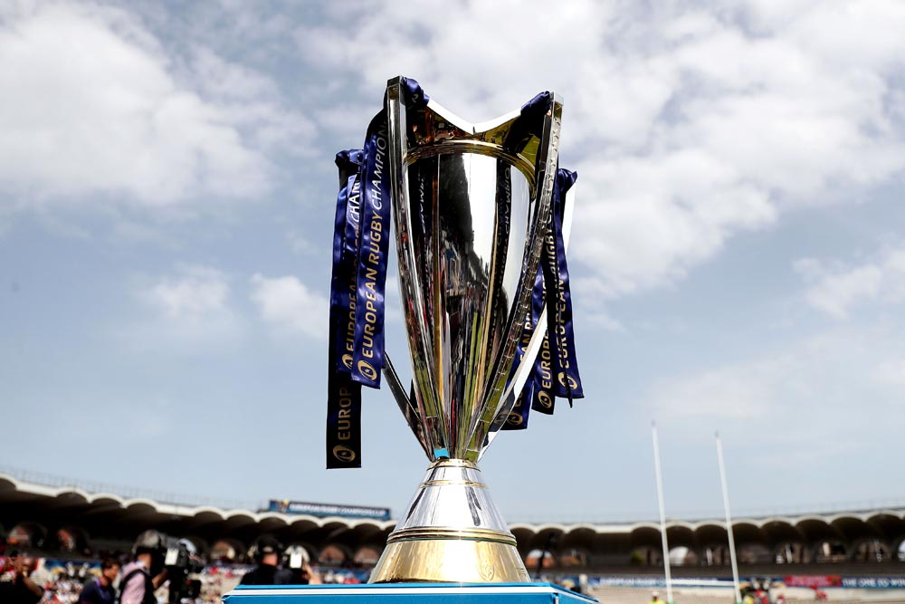 A general view of the Champions Cup trophy 22/4/2018